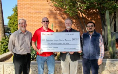 Terracon's Tucson office presents $10,000 student grant to UA College of Engineering