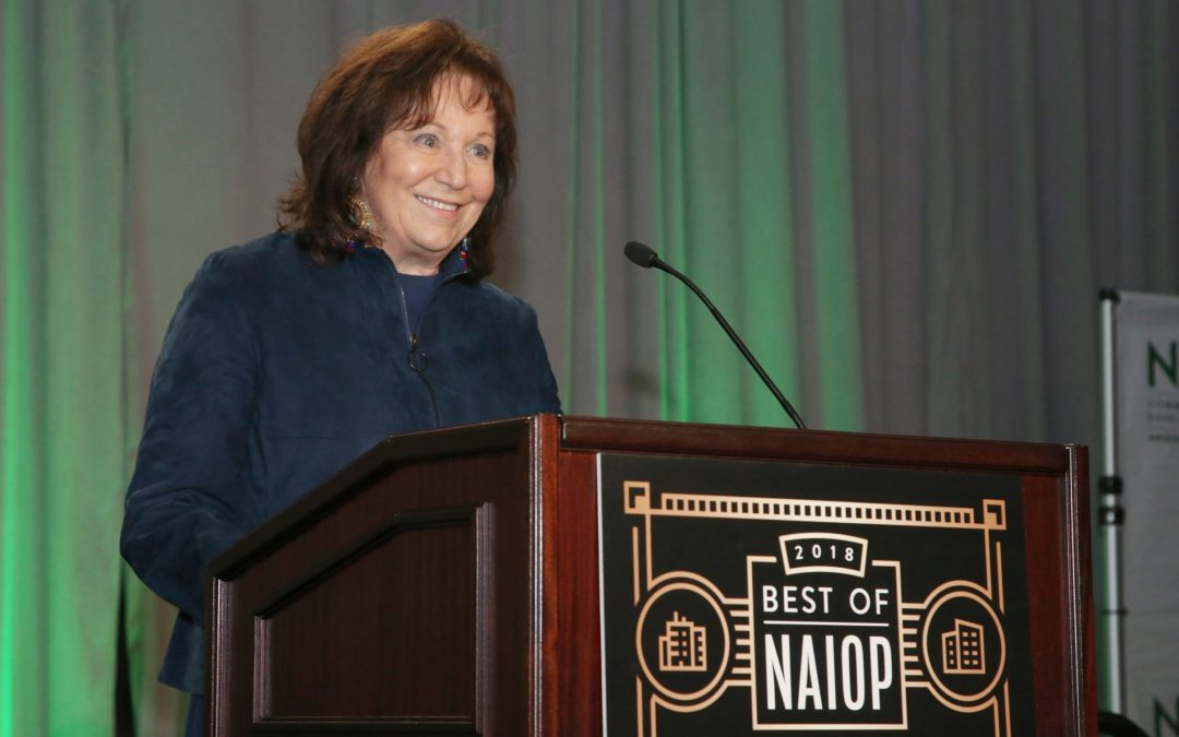 Industry influencer Sharon Harper of The Plaza Companies honored with Award of Excellence at 2018 Best of NAIOP Arizona