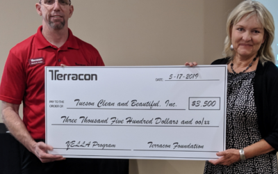 Terracon presents Tucson Clean & Beautiful $3,500 foundation grant for youth mentoring