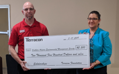 Terracon's Tucson office presents $2,500 grant to environmental group for student scholarships