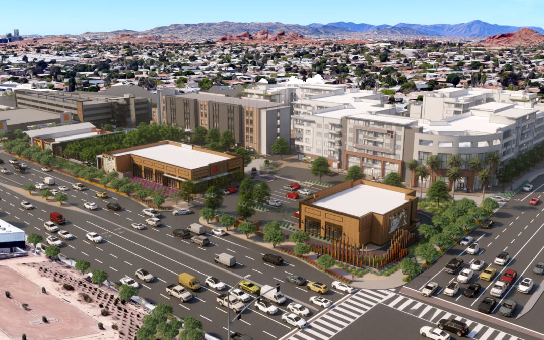 Sigma Contracting breaks ground at iconic Papago Plaza in Scottsdale, will construct parking garage, retail and office buildings