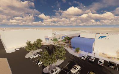 Caliente Construction breaks ground on $9M office/hangar building at PHX-Mesa Gateway